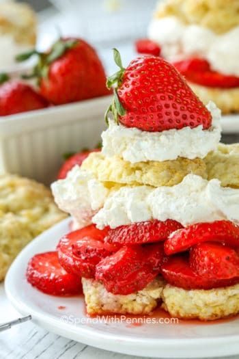 Strawberry Shortcake on a white plate