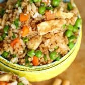 Fried Rice is one of my favorite things to order at a Chinese restaurant. I wish I'd have tried making it at home years ago because I had no idea how easy it would be to make restaurant style rice at home!