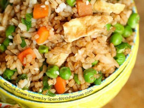 Easy Fried Rice Recipe 20 Min Recipe Spend With Pennies