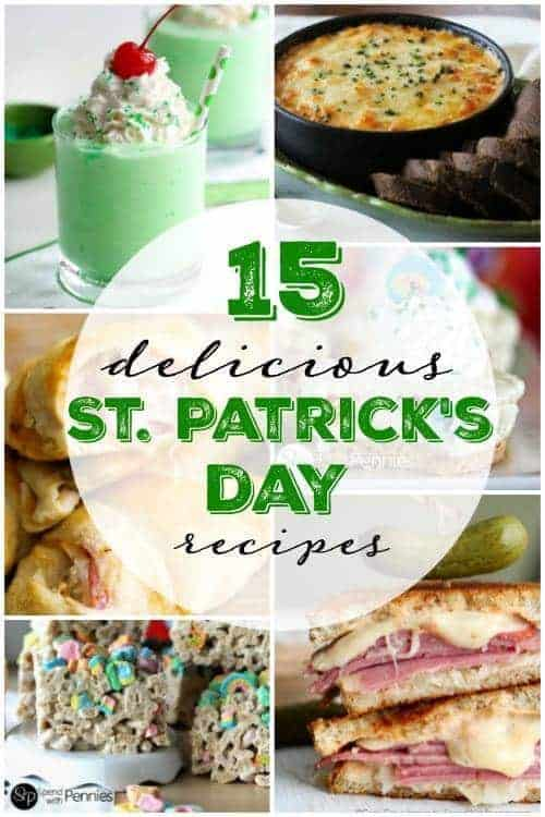 a collage of recipes suitable for st patrick's day