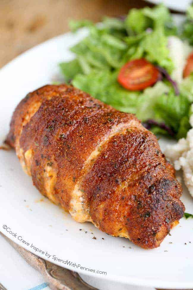 sajtos baconös csirkemell