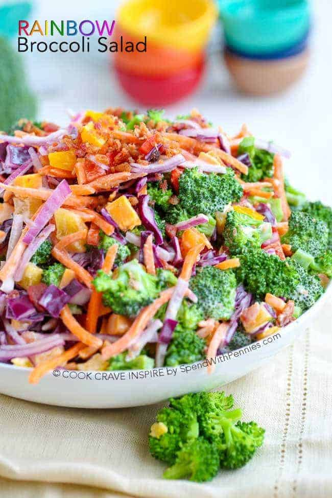 Rainbow Broccoli Salad Is Loaded With Flavor And Color This Is The Perfect Potluck Salad