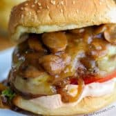 a Salisbury Steak Burger