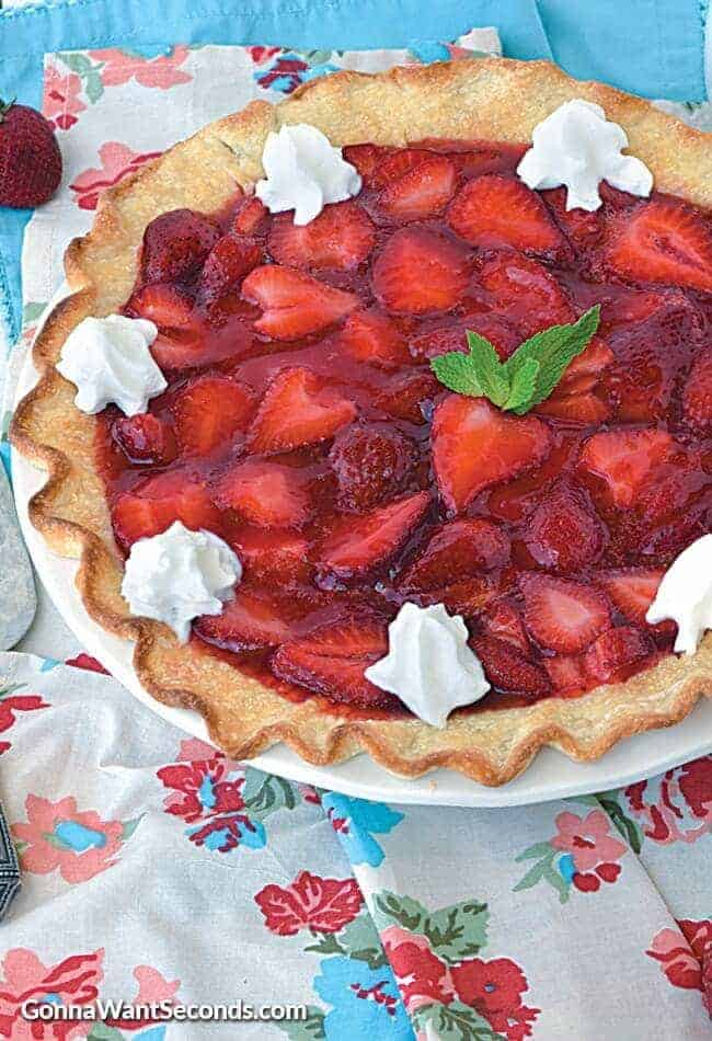 Strawberry Pie overhead view