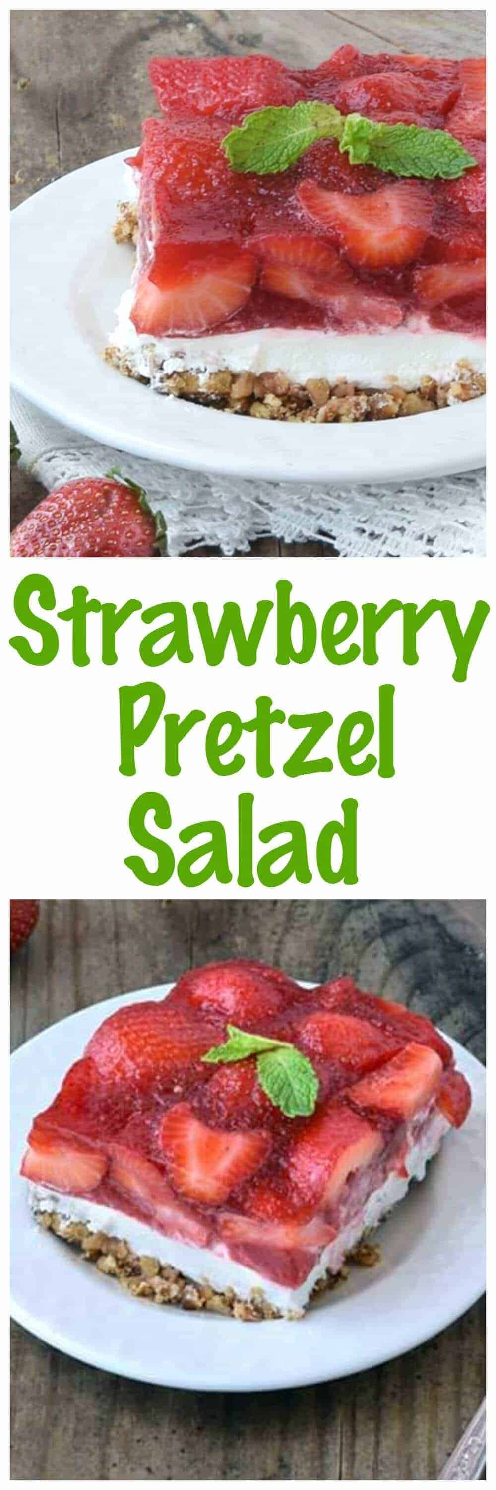 Strawberry Pretzel Salad! This classic recipe is a favorite at all of ...