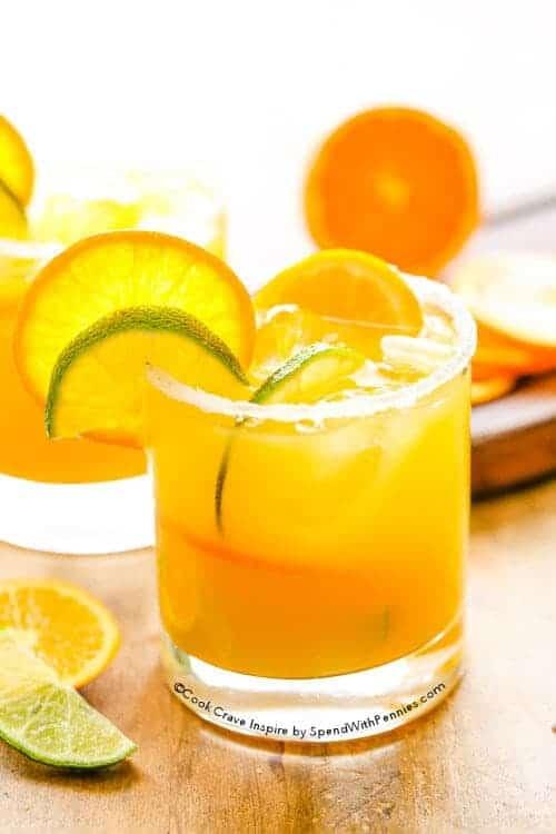 side view of Sunny Orange Margarita