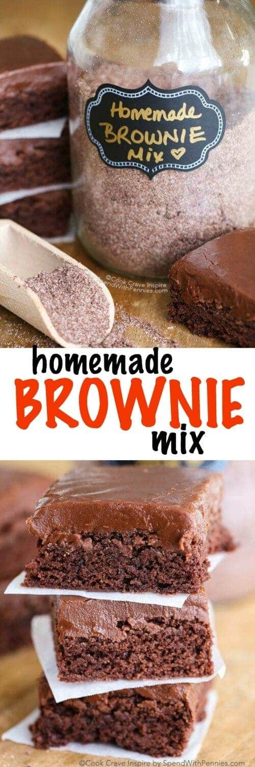 Homemade Brownie Mix with a title
