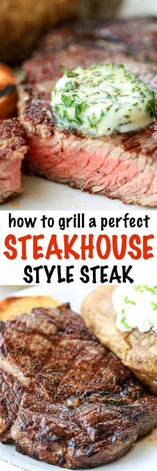 How to Cook a the Perfect Steak with a title