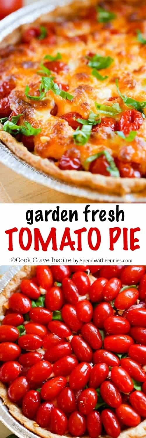 Tomato Pie with a title