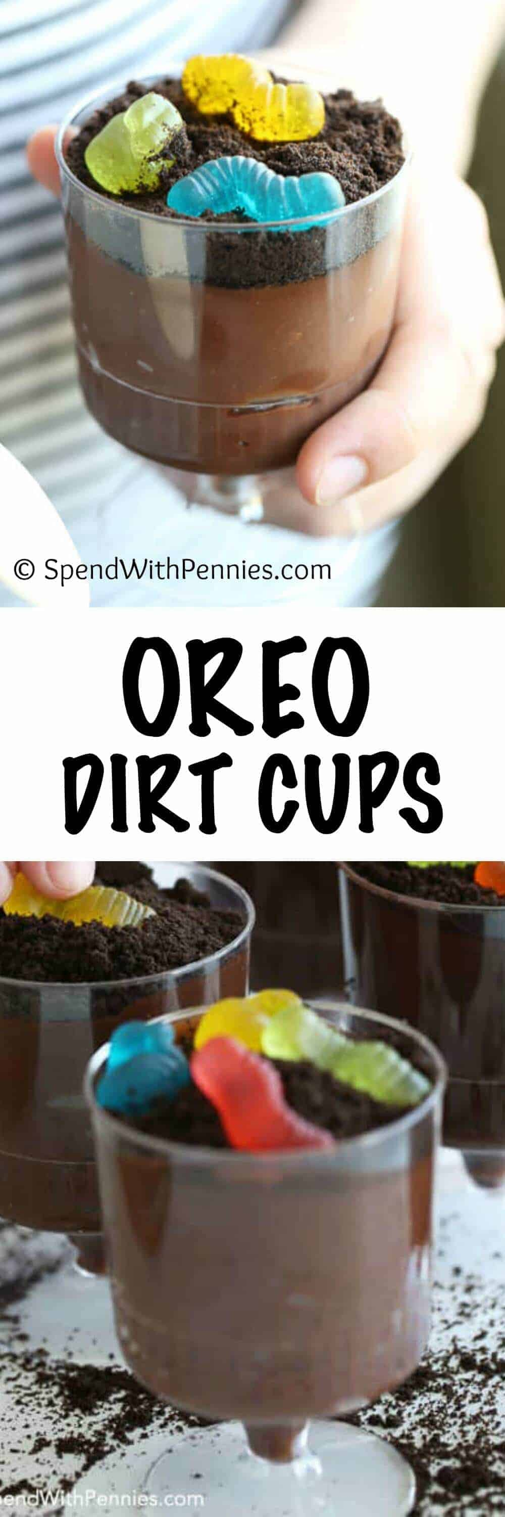 These adorable Jell-O Oreo Dirt Cups are a great make-ahead after school snack or the perfect surprise lunchbox treat!