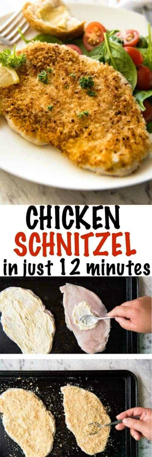 Chicken Schnitzel with a title