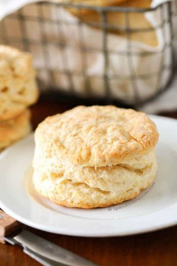 Flaky Buttermilk Biscuit on Plate