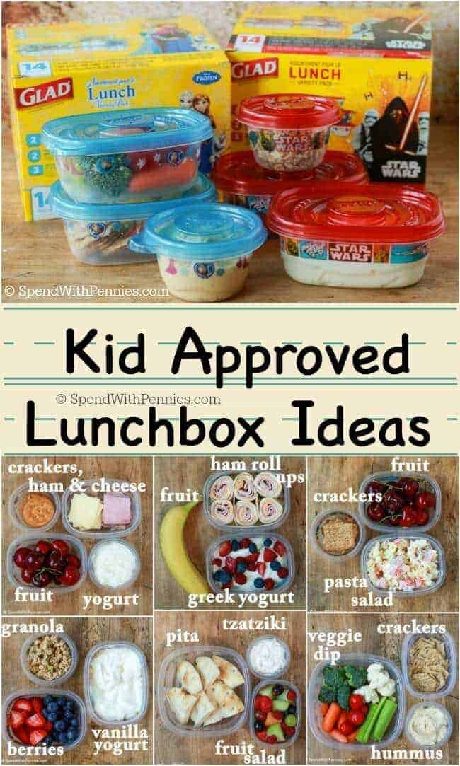 Easy lunch ideas for kids spend with pennies here are our favorite kid approved lunchbox ideas while these lunches are easy to make forumfinder Image collections