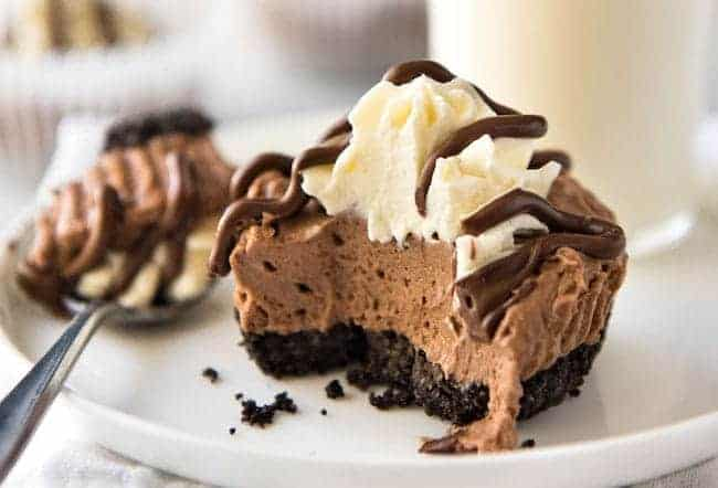 No Bake Mini Nutella Cheesecakes_RecipeTin Eats