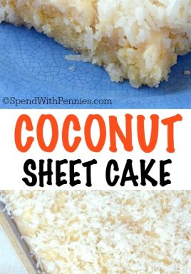 Coconut Sheet Cake Spend With Pennies