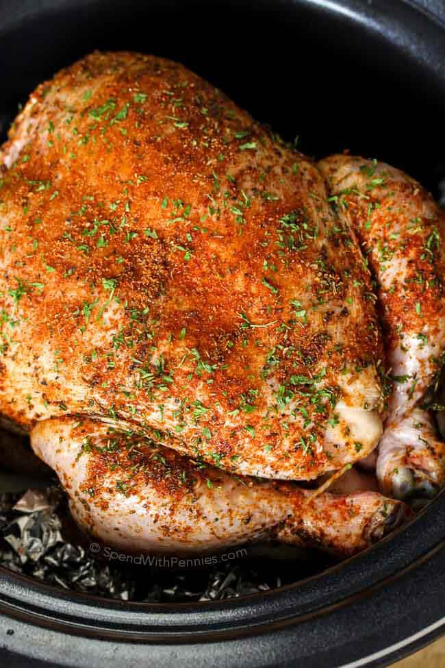 Slow Cooker Whole Chicken Amp Gravy Spend With Pennies