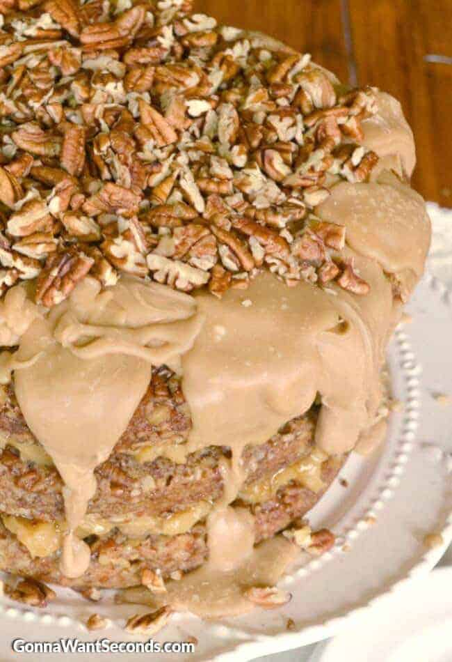 Triple Layer Pecan Pie Cake