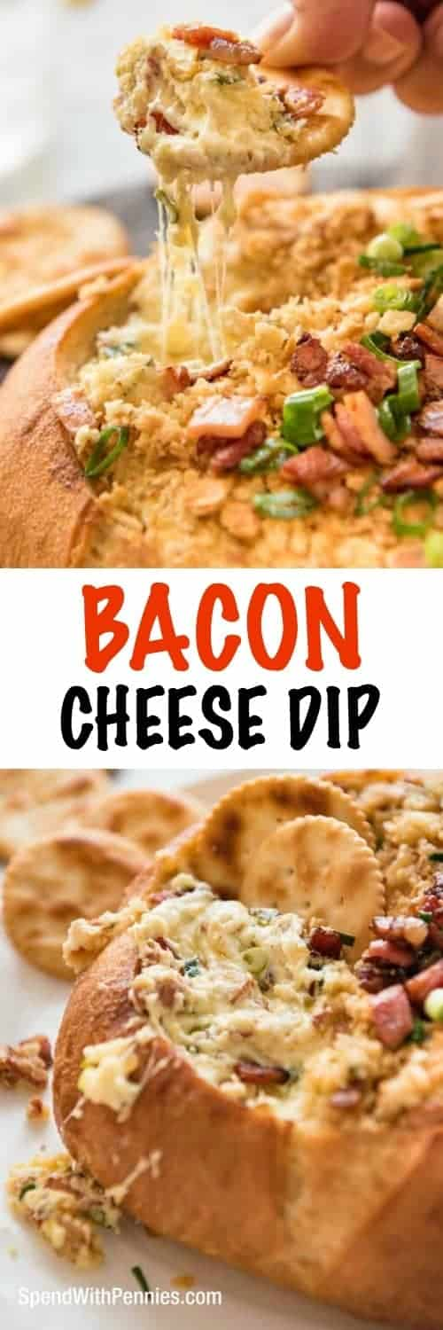 If you want to be the most popular person at a gathering, take this Warm Bacon Cheese Dip. This amazing appetizer is creamy, cheesy, warm and loaded with bacon flavour. Hands down the most popular dip at every party I've taken it to!