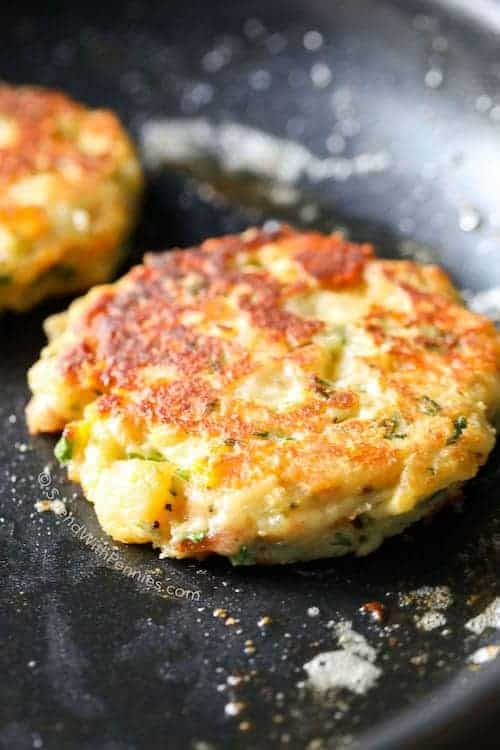 Loaded mashed potato cakes save ccuart