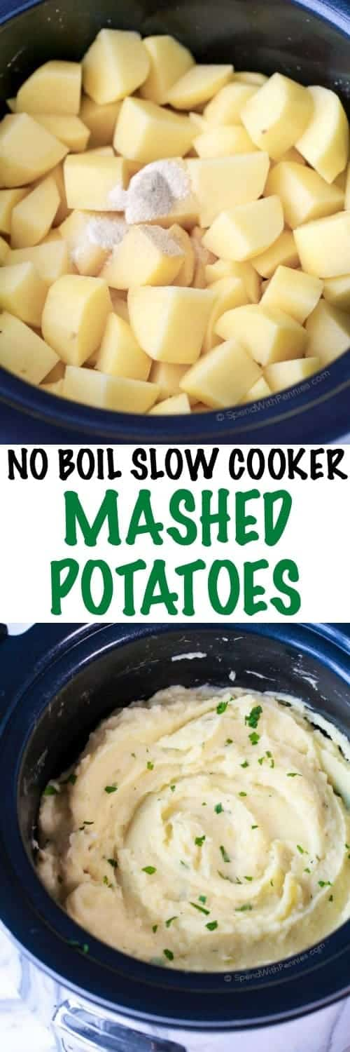 No Boil Slow Cooker Mashed Potatoes Spend With Pennies