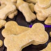 Dog bone cookies on a table