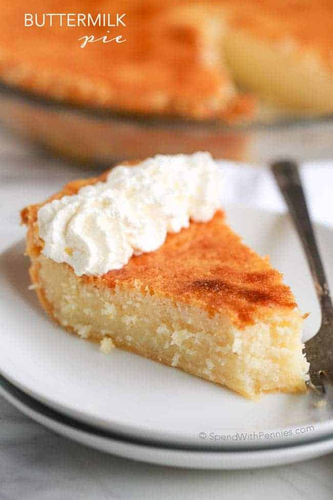 Buttermilk pie is an easy classic dessert made with simple pantry ingredients! The result is a deliciously comforting custard pie with a slightly caramelized topping. This pie will be one your family will request over and over!