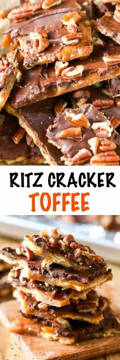 Pecan Christmas Crack (Ritz Cracker Toffee) - Spend With Pennies