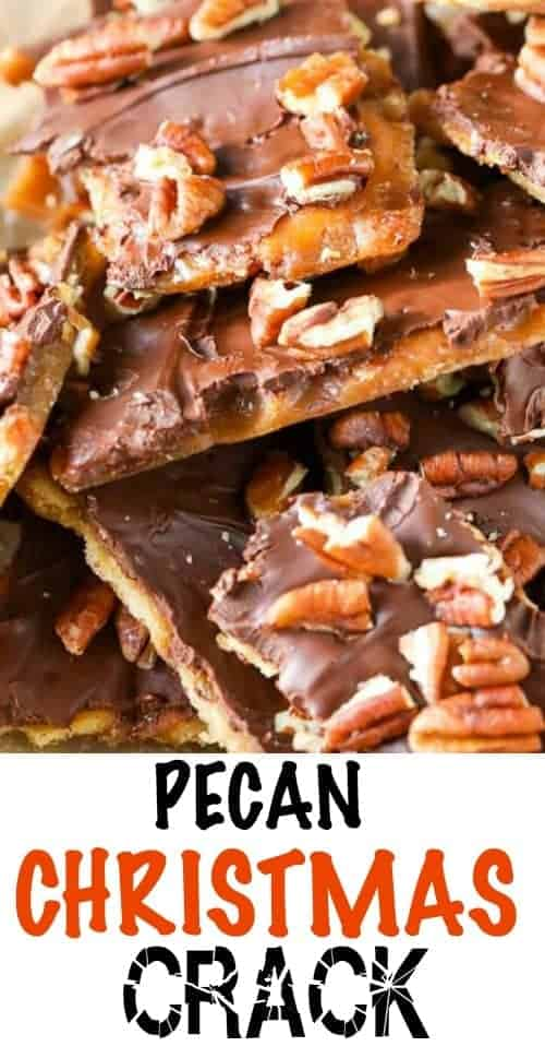 Pecan Christmas crack with a title