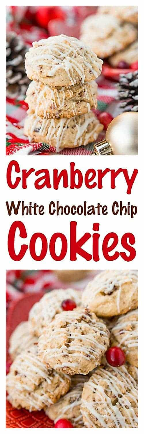 These Cranberry White Chocolate Chip Pudding Cookies are chewy, sweet, and perfect for the winter holidays! Just a few minutes of prep and your first batch will be coming out of the oven in less than 30 minutes!
