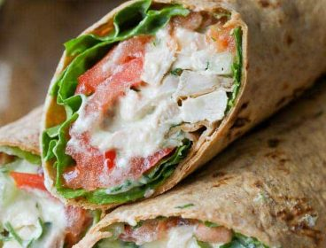 avocado chicken salad wrap