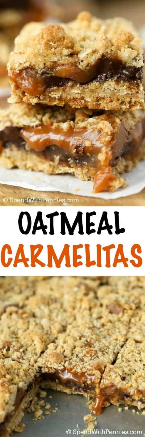 If you've never had a Caramelita before, you've been missing out! They're one of my all time favorite bars with a thick buttery oat crust loaded with chocolate and caramel!