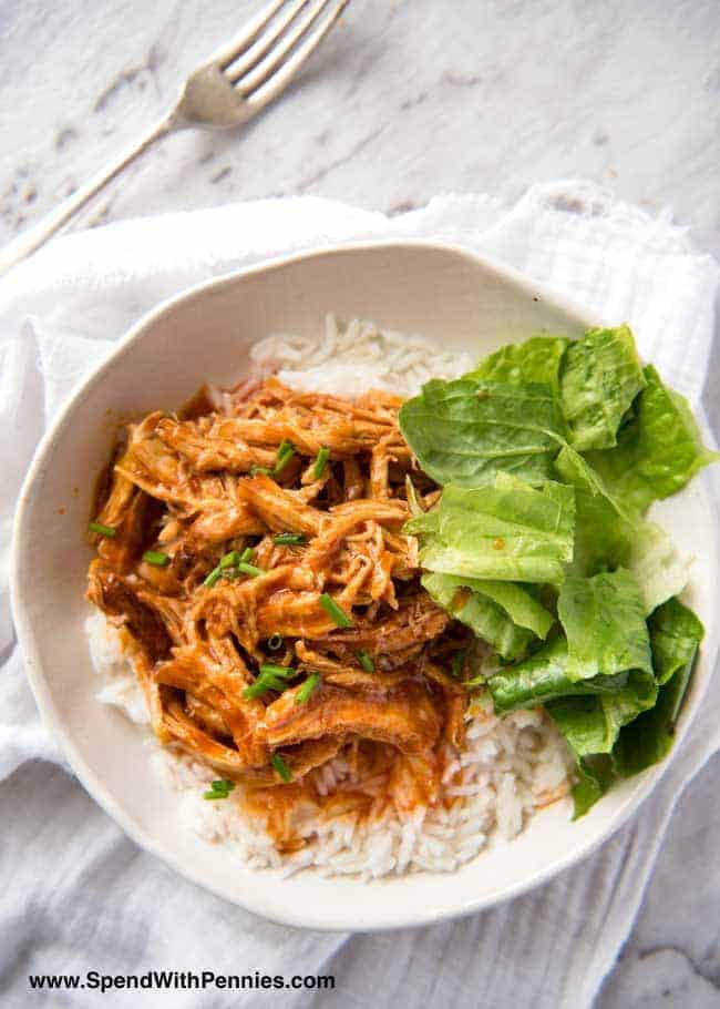 Dinner has never been easier than with this mouth watering One Pot Shredded Chicken in Buffalo Sauce!