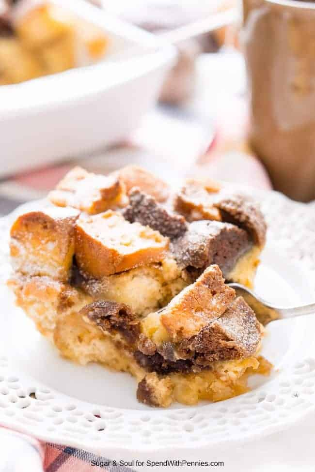 Cake Donut Bread Pudding is a fun take on classic bread pudding using everyone's favorite breakfast treat perfect for brunch or dessert!