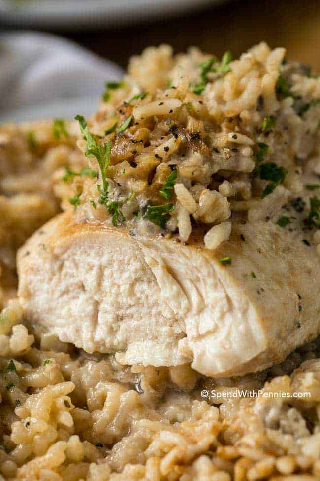 4 Ingredient Chicken Rice Casserole Spend With Pennies