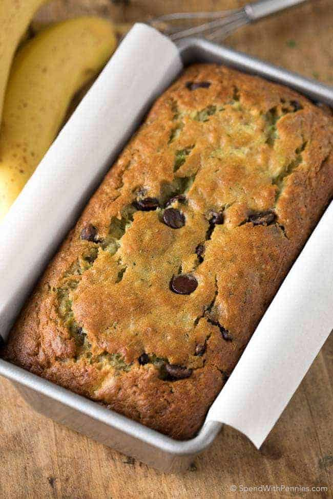 easy chocolate chip zucchini bread