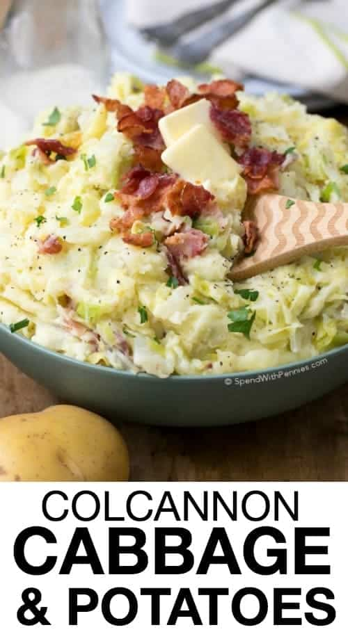 Colcannon is the perfect dish for St. Patrick's Day! Combining the flavors of sweet cabbage, fried onion andcreamy mashed potatoes createsa traditional Irish dish that will fill the family and leave them feeling satisfied!