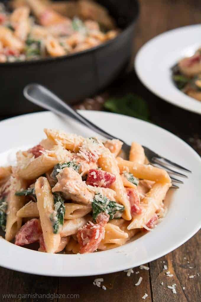 onquer the hectic back-to-school schedule with easy weeknight meal recipes like this Creamy Tomato Chicken Florentine Pasta.
