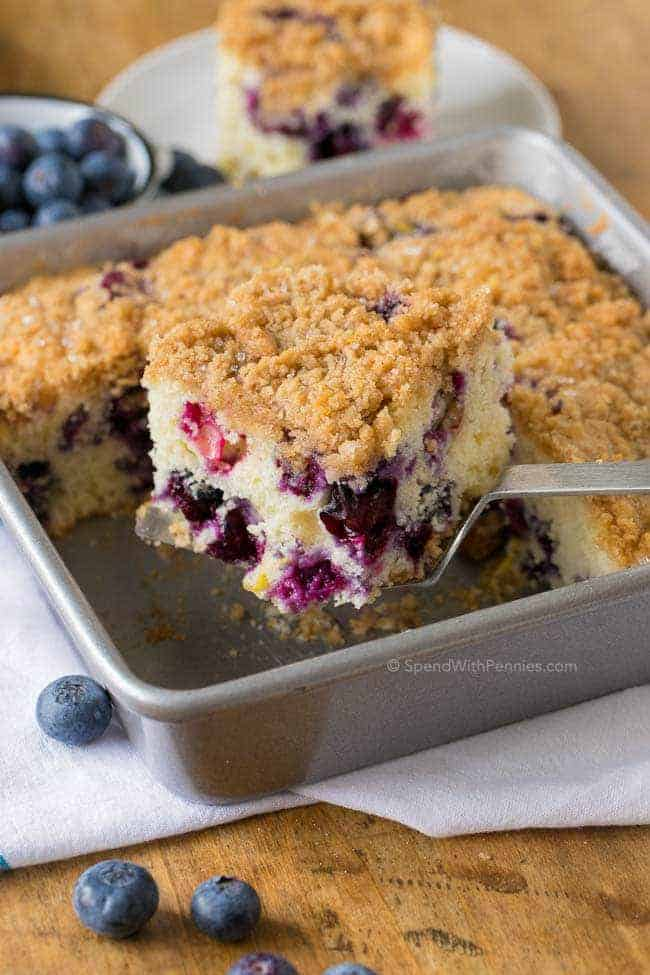 A Of Notes About The Blueberries In This Recipe