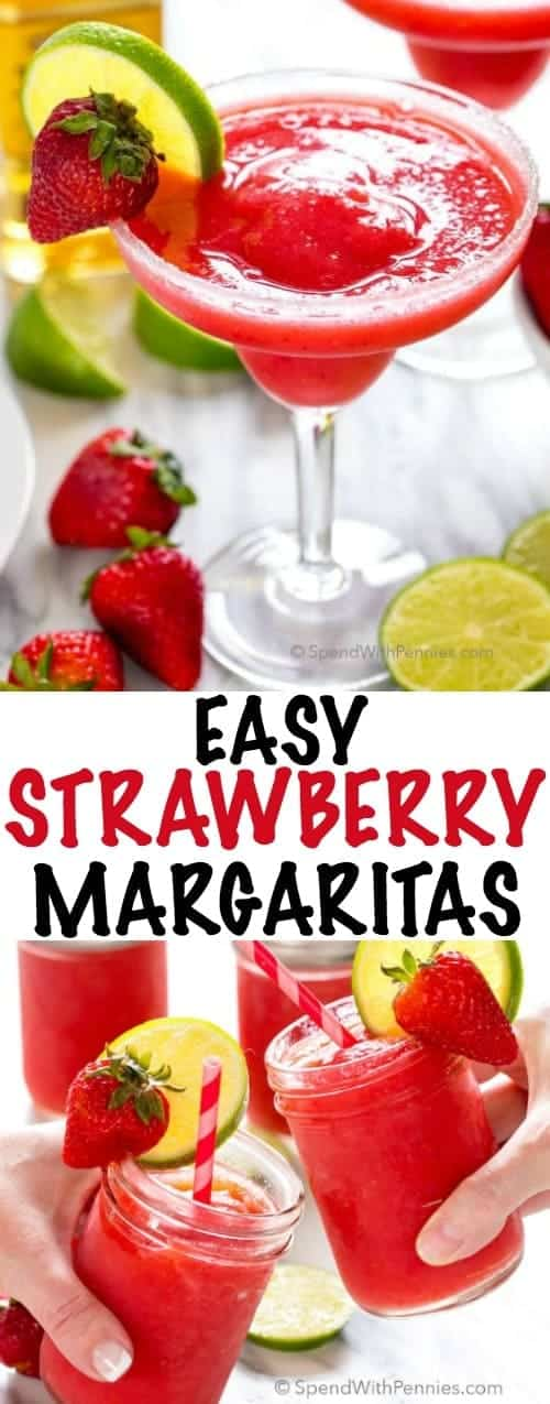 Easy Strawberry Margaritas Spend With Pennies