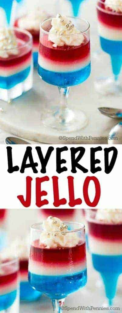 Layered Jello with wording