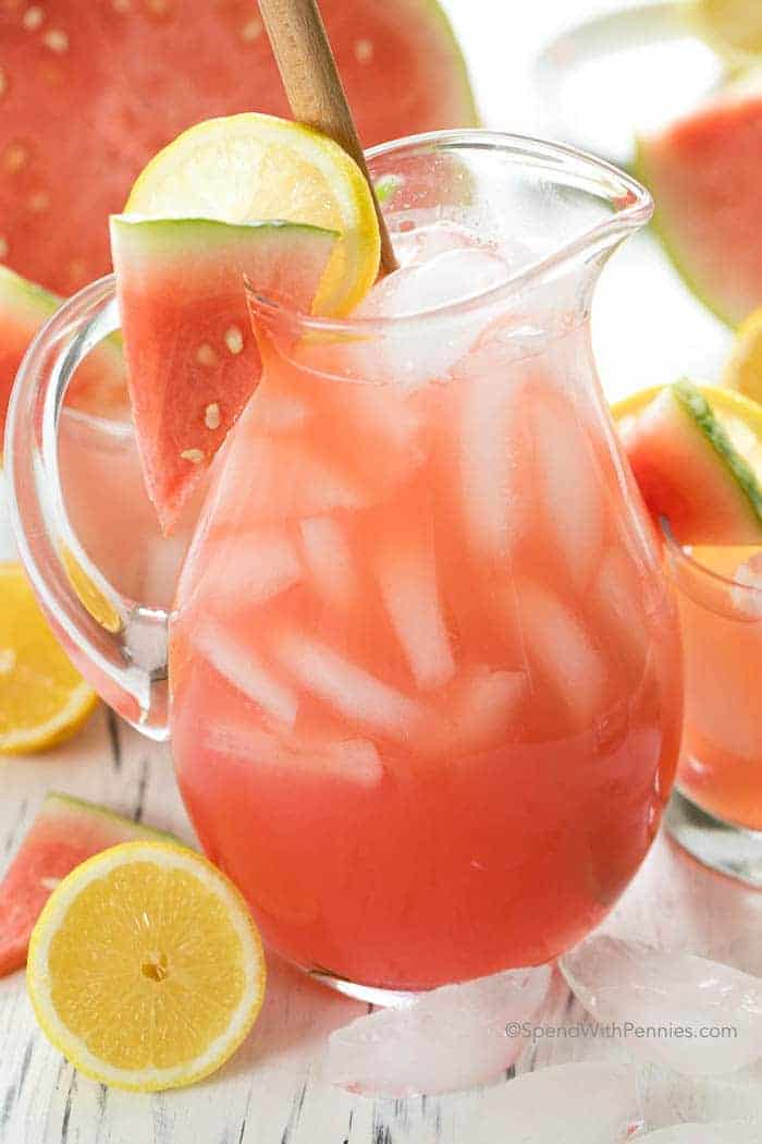 Big jug of Watermelon Lemonade