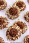 Several Chocolate Hazelnut Thumbprint Cookies