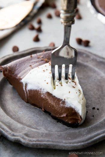 piece of Chocolate Silk Pie