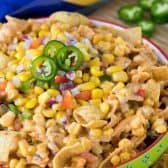 frito corn salad in green bowl