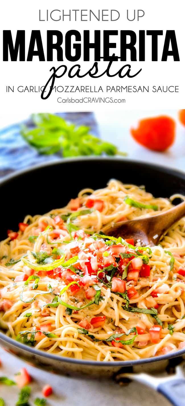 margherita pasta dish with text