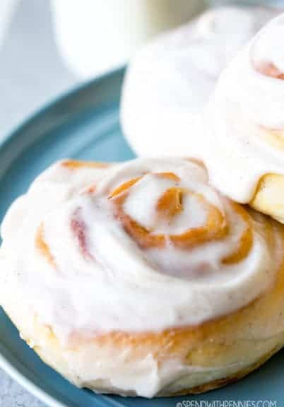 Pumpkin Cinnamon Rolls are a light, fluffy sweet roll filled with a pumpkin filling, and glazed with a pumpkin pie cream cheese icing. A yummy fall treat, any time of year!