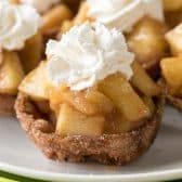Apple Pie Bites on a plate