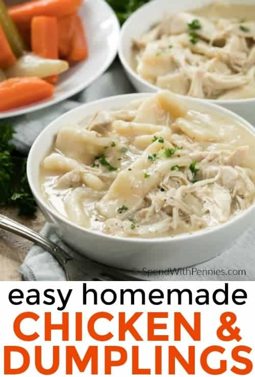 This Is Our Absolute Favorite Chicken And Dumplings Recipe Tender Dumplings Made From Scratch And