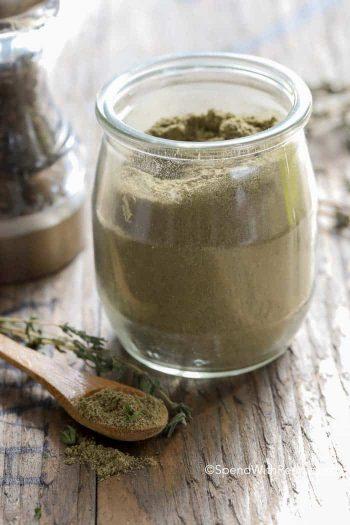 seasoning jar with wooden spoon