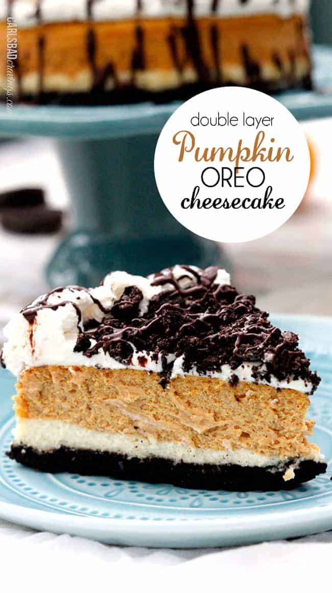 This award winning Double Layer Pumpkin Oreo Cheesecake is the best pumpkin anything and will be the hit of Thanksgiving AND its way EASIER than you think!